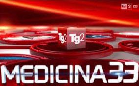 logo televisivo del Tg2 Medicina 33